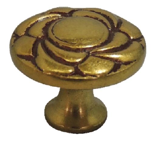 Portal Fechaduras- Puxador Para Móveis Flor Dourada
